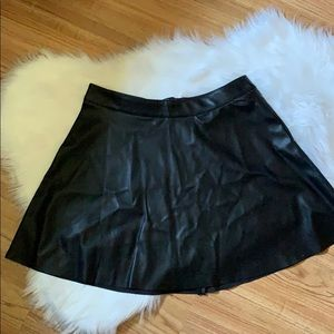 NWT Black Pleather Skirt